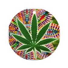 Marijuana Ornament (Round)
