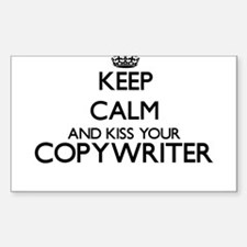 Keep calm and kiss your Copywriter Decal