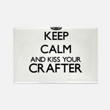 Keep calm and kiss your Crafter Magnets
