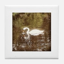 Hyde Park Swan Tile Coaster