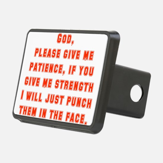God Please Give Me Patience Hitch Cover