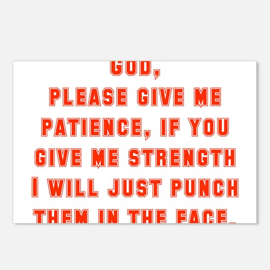 God Please Give Me Patience Postcards (Package of
