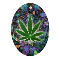 Marijuana Oval Ornament