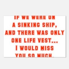 If We Were On A Sinking Ship Postcards (Package of