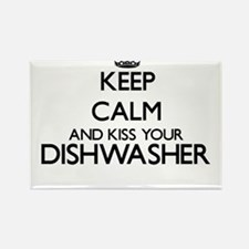 Keep calm and kiss your Dishwasher Magnets
