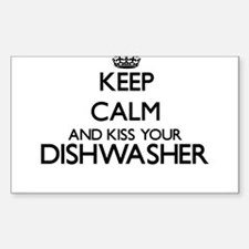 Keep calm and kiss your Dishwasher Decal