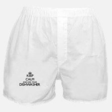 Keep calm and kiss your Dishwasher Boxer Shorts