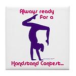 Gymnastics Tile Coaster - Handstand