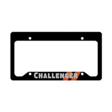 Challenger Racing Stripes License Plate Holder