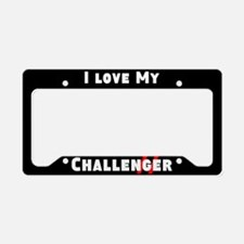 I Love My Challenger License Plate Holder