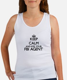 Keep calm and kiss your Fbi Agent Tank Top