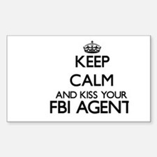Keep calm and kiss your Fbi Agent Bumper Stickers