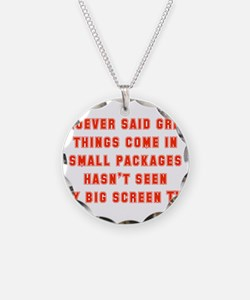Whoever Said Great Things Come In Necklace