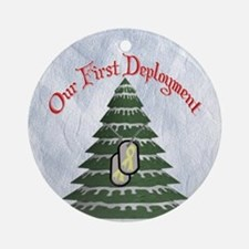 Our First Deployment Tree Ornament (Round)