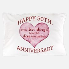 50th. Anniversary Pillow Case