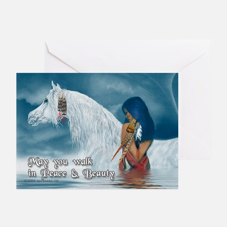 Horse & Maiden Xmas Greeting Cards (Pk of 10)