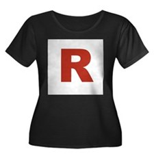 Capital R in Red Plus Size T-Shirt