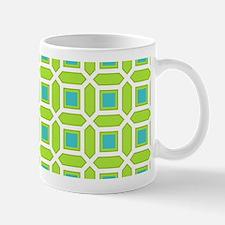 Aqua Blue and Green Mosaic Pattern Mug