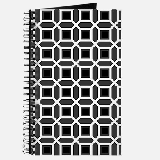 Black and White Mosaic Pattern Journal