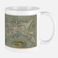 Vintage Map of The Kingdom of Naples (1608) Mugs