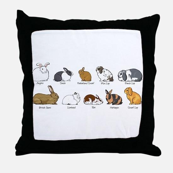 Unique Bunny rabbit Throw Pillow