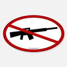 No Assault Weapons. Oval Sticker.