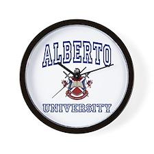 ALBERTO University Wall Clock