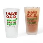Ocd Obsessive Christmas Disorder Drinking Glass