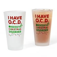 Ocd Obsessive Christmas Disorder Drinking Glass
