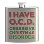 I Have Ocd Obsessive Christmas Disorder Flask