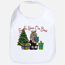 Santa Likes Me Best Bib