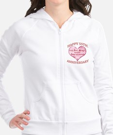 55th. Anniversary Fitted Hoodie