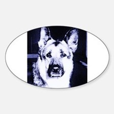 German Shepard Dog Black and White Decal