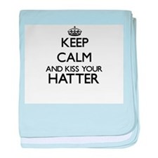 Keep calm and kiss your Hatter baby blanket