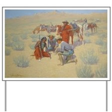 Frederick Remington, A Map in the Sand Yard Sign