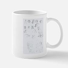 drawin cartoon wolves Mugs