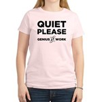 Quiet Please Genius At Work Women's Light T-Shirt
