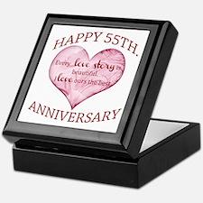 55th. Anniversary Keepsake Box