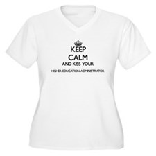 Keep calm and kiss your Higher E Plus Size T-Shirt