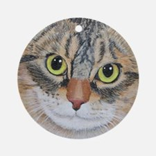 Tabby Cat Ornament (Round)