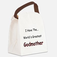 I Have a Great Godmom Canvas Lunch Bag