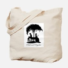 Pride and Prejudice Darcy and Lizzie Tote Bag