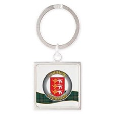 Cute Irish coat arms Square Keychain