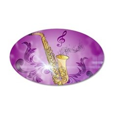 Saxophone with key notes Wall Decal