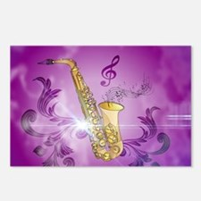 Saxophone with key notes Postcards (Package of 8)