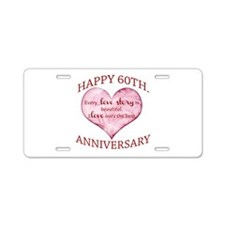 60th. Anniversary Aluminum License Plate