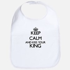 Keep calm and kiss your King Bib