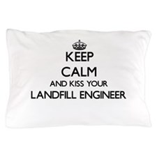 Keep calm and kiss your Landfill Engin Pillow Case