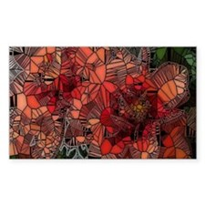 flowers such as stained glass Decal