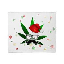 Pothead Santa Card Throw Blanket